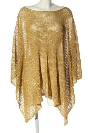 Lauren by Ralph Lauren Poncho goud Webpatroon casual uitstraling
