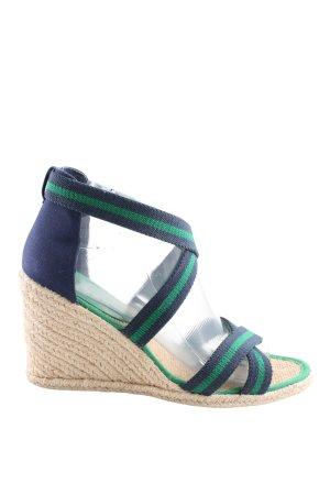 Lauren by Ralph Lauren Riemchen-Sandaletten blau-grün Streifenmuster