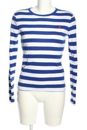 Lauren by Ralph Lauren Maglietta a righe blu-bianco motivo a righe stile casual
