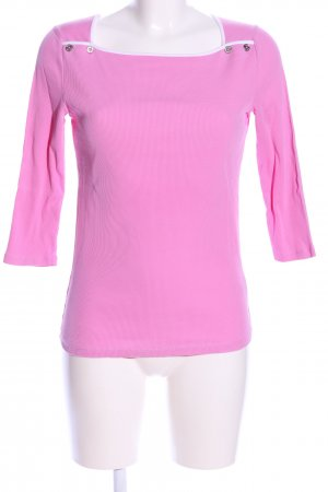 Lauren by Ralph Lauren Camicia a coste rosa stile casual