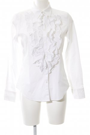 Lauren by Ralph Lauren Blouse à volants blanc style d'affaires