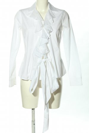Lauren by Ralph Lauren Blouse à volants blanc style d'affaires
