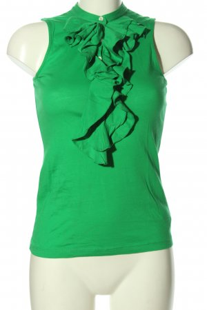 Lauren by Ralph Lauren Top a balze verde stile casual