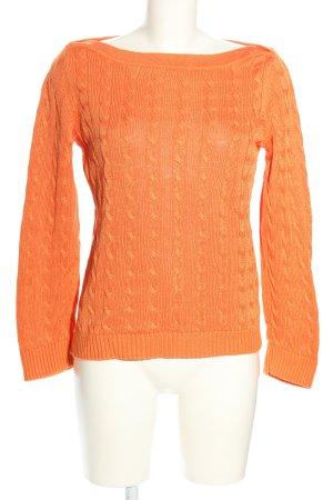Lauren by Ralph Lauren Jersey trenzado naranja claro Algodón