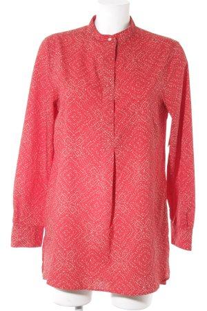 Lauren by Ralph Lauren Schlupf-Bluse rot-creme abstraktes Muster schlichter Stil