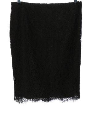 Lauren by Ralph Lauren Koronkowa spódnica czarny W stylu casual