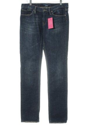 Lauren by Ralph Lauren Straight Leg Jeans dark blue Metal elements