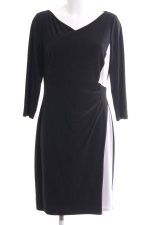 Lauren by Ralph Lauren Stretchkleid schwarz-weiß Elegant