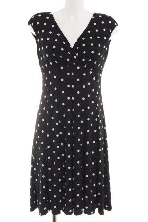 Lauren by Ralph Lauren Abito elasticizzato nero-bianco stampa integrale elegante