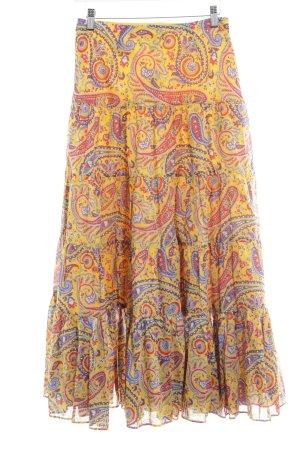 Lauren by Ralph Lauren Broomstick Skirt paisley pattern hippie style