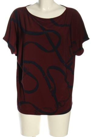 Lauren by Ralph Lauren T-Shirt rot-blau Allover-Druck Casual-Look