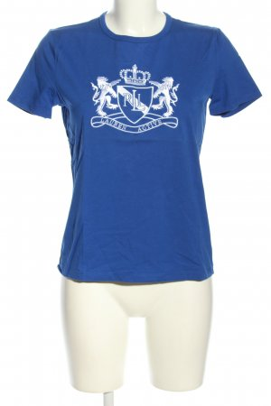 Lauren by Ralph Lauren T-Shirt blau-weiß Motivdruck Casual-Look