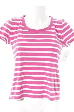 Lauren by Ralph Lauren T-Shirt pink-weiß Streifenmuster Casual-Look