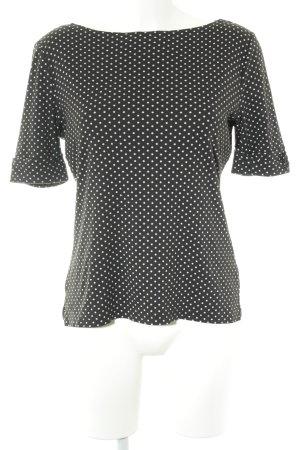 Lauren by Ralph Lauren T-Shirt schwarz-weiß Punktemuster Casual-Look