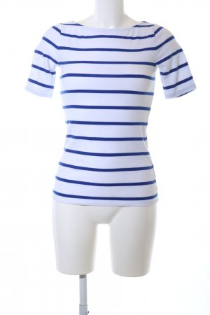 Lauren by Ralph Lauren U-Boot-Shirt weiß-blau Streifenmuster Casual-Look