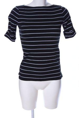 Lauren by Ralph Lauren U-Boot-Shirt schwarz-weiß Streifenmuster Casual-Look