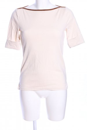 Lauren by Ralph Lauren U-Boot-Shirt creme-braun Casual-Look