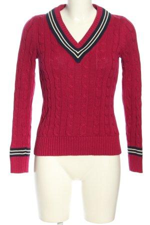 Lauren by Ralph Lauren V-Neck Sweater striped pattern casual look
