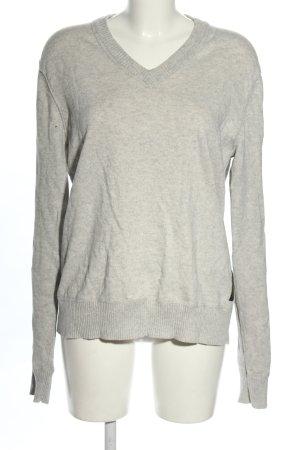 Lauren by Ralph Lauren Maglione con scollo a V grigio chiaro stile casual