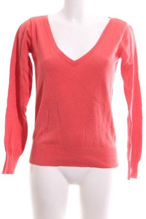 Lauren by Ralph Lauren V-Ausschnitt-Pullover rot Casual-Look