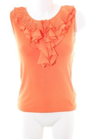 Lauren by Ralph Lauren Volanten top licht Oranje casual uitstraling