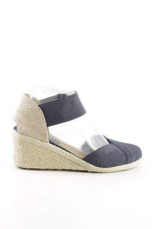 Lauren by Ralph Lauren Wedges Sandaletten blau-wollweiß Casual-Look