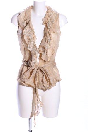 Lauren by Ralph Lauren Wraparound Blouse nude casual look
