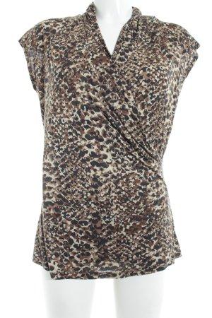 Lauren by Ralph Lauren Camisa cruzada estampado de leopardo estampado animal