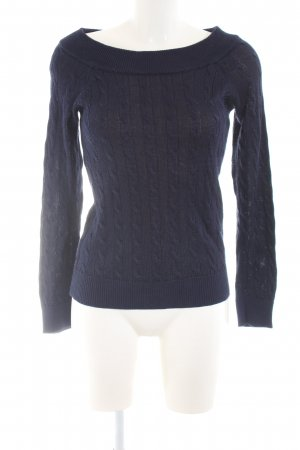 Lauren by Ralph Lauren Cable Sweater blue cable stitch casual look