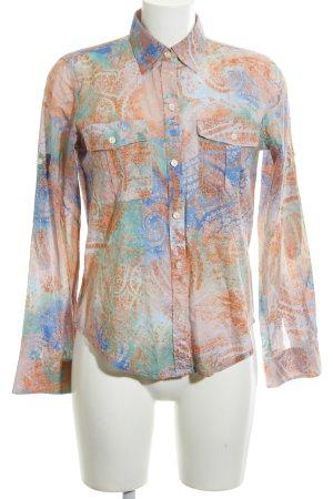 Lauren Jeans Co. Ralph Lauren Hemd-Bluse abstraktes Muster Casual-Look