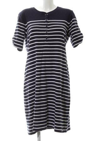 Lauren Jeans Co. Ralph Lauren Kurzarmkleid schwarz-weiß Streifenmuster