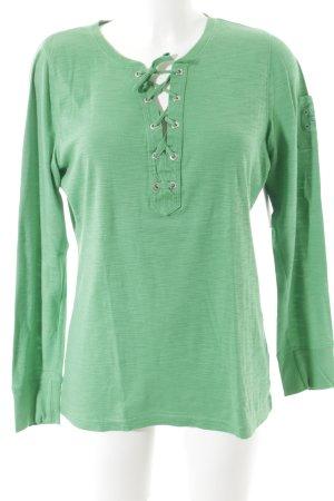 Lauren Jeans Co. Ralph Lauren Longsleeve grün Casual-Look
