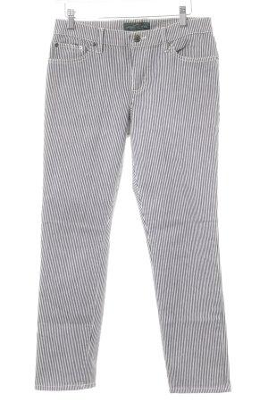 Lauren Jeans Co. Ralph Lauren Slim Jeans weiß-schwarz Streifenmuster