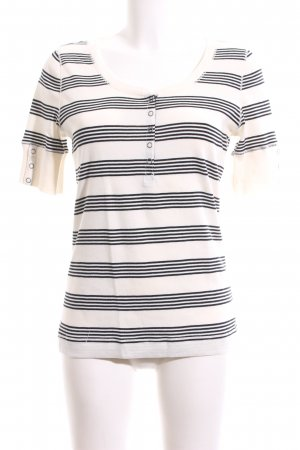 Lauren Jeans Co. Ralph Lauren T-Shirt weiß-schwarz Streifenmuster Casual-Look