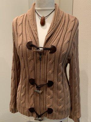 Lauren Jeans Co. Ralph Lauren Veste tricotée en grosses mailles chameau-brun