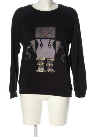 Lauren Moshi Sweat Shirt themed print casual look