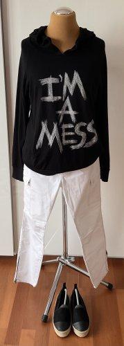 Lauren Moshi Hooded Sweatshirt black-white cotton
