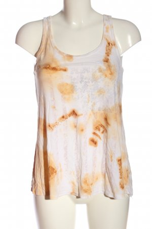 Lauren Moshi Tank Top white-brown abstract pattern casual look