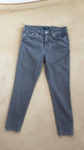 Lauren by Ralph Lauren Drainpipe Trousers dark grey