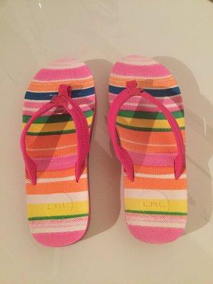Lauren by Ralph Lauren High-Heeled Toe-Post Sandals multicolored