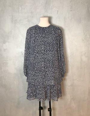 Lauren by Ralph Lauren Longsleeve Dress light grey-dark blue polyester