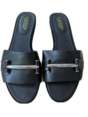 Lauren by Ralph Lauren T-Strap Sandals black