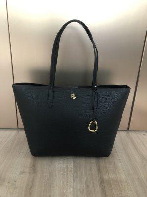 Ralph Lauren Shopper black-gold-colored mixture fibre