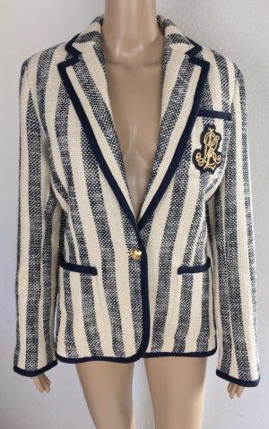 Lauren Ralph Lauren, Striped Blazer, Navy White, Cotton, US 10 (40), neu, € 300,-