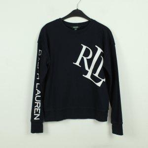 Lauren by Ralph Lauren Sweat Shirt white-dark blue cotton