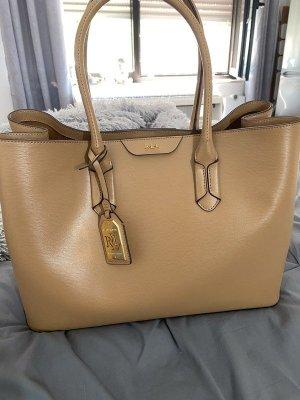 Lauren Ralph Lauren Tate City Tote Shopper Handtasche Tasche Cognac Braun