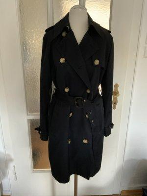 Lauren by Ralph Lauren Trench Coat dark blue cotton