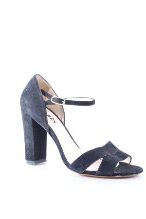 Lauren by Ralph Lauren Riemchen-Sandaletten schwarz klassischer Stil