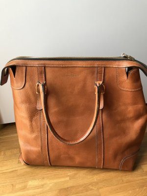Laurence Doligé Paris - Echtleder-Tasche, cognac - Top-Zustand