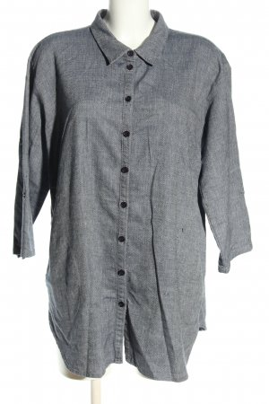 LauRie Long Sleeve Shirt light grey flecked casual look